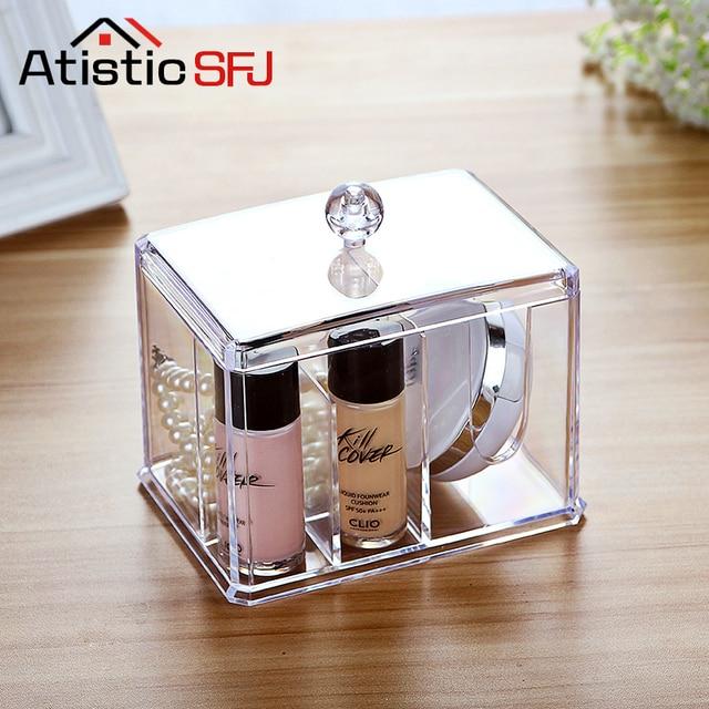 Acrylic Cotton Pad Organizer Q Tip Storage Box Makeup For Organizer  Bathroom Make Up Organizeru0026organizadores