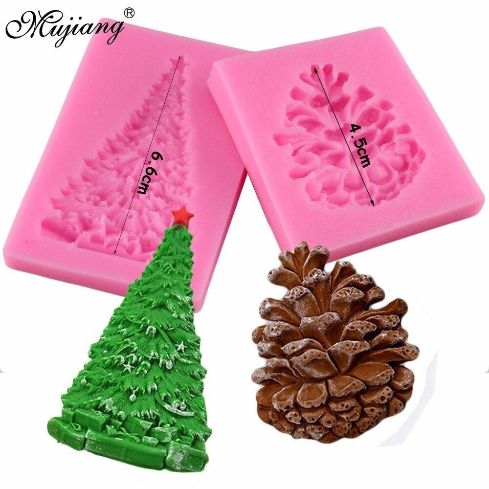 Silicone Christmas Pine Cone Fondant Mould Cake Decor Icing Sugar Paste Mold