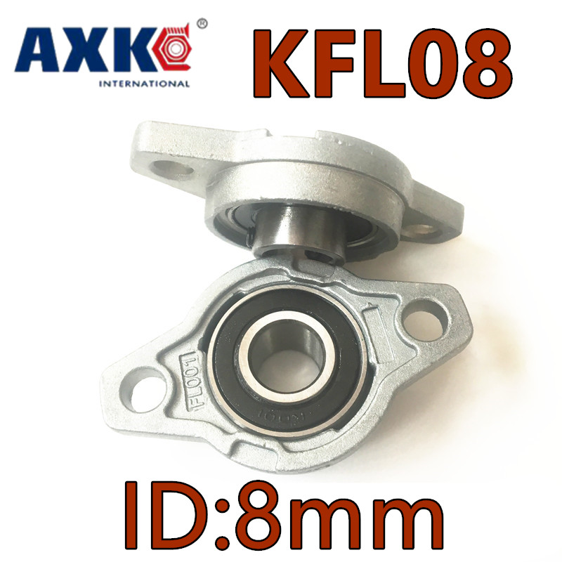 AXK KFL08 FL08 flange bearing with pillow block 8mm caliber Zinc Alloy Pillow Block Bearing Mounted Cast Housing Self-aligning 8mm inner diameter zinc alloy pillow block flange bearing kfl08