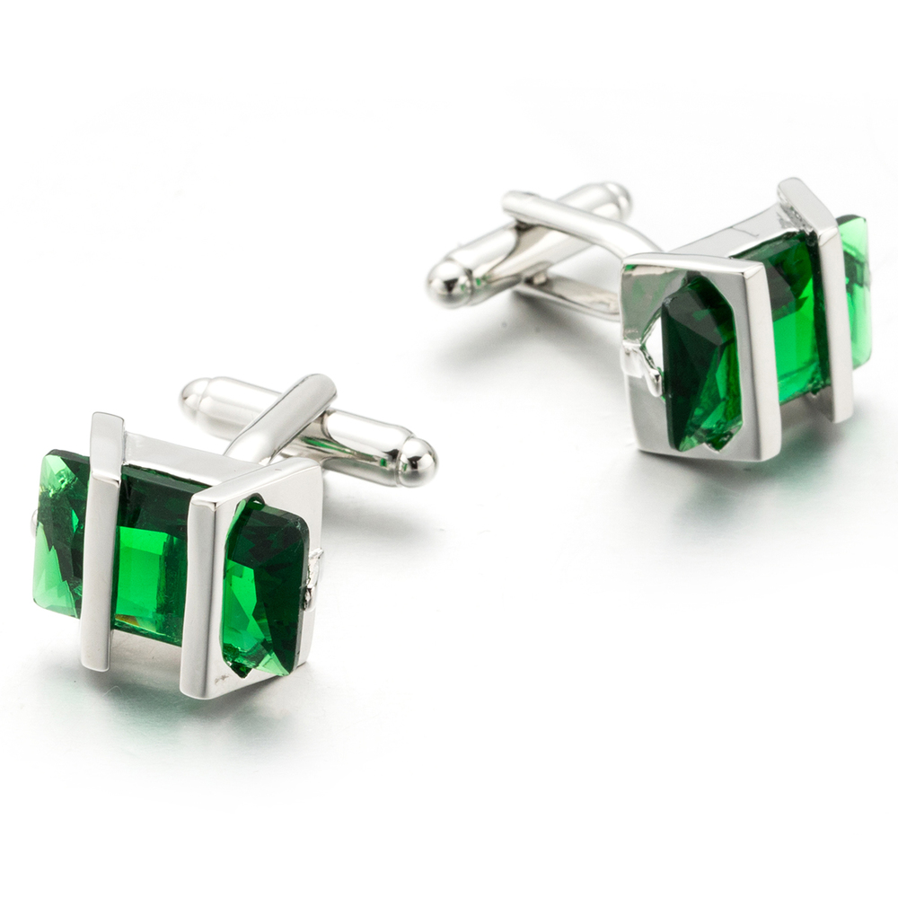 New Green Crystal Cufflinks Green Zircon Cuff links Wedding Groom Gift Gemelos 708New Green Crystal Cufflinks Green Zircon Cuff links Wedding Groom Gift Gemelos 708