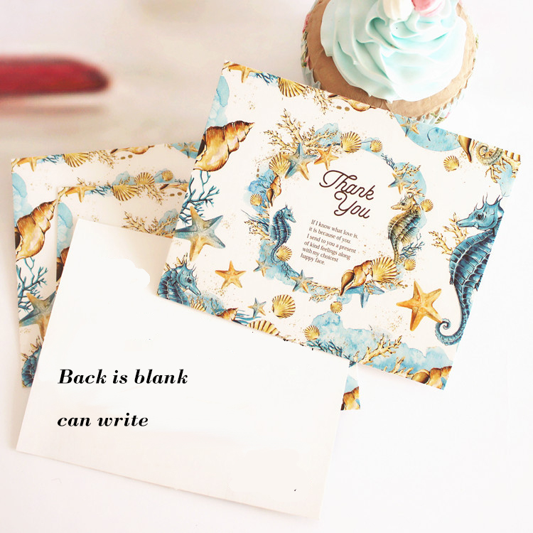 50pcs Mini thanks Card myth of sea style multi-use as Scrapbooking invitation DIY Decoration party gift card message card