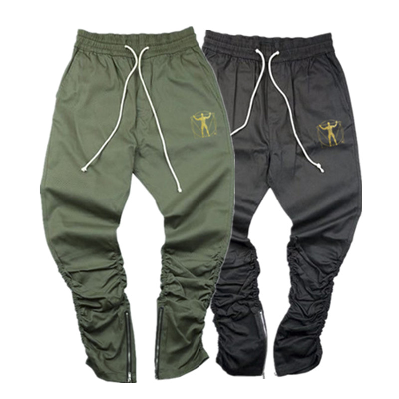 Autumn Men Pants Hip Hop Harem Joggers Pants 2019 New Male Trousers Mens Joggers Solid Zipper ankle Pants Sweatpants M-3XL(China)