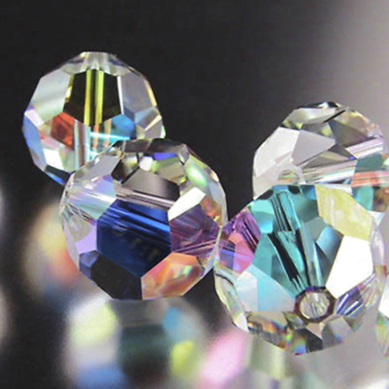 11mm AAA High Quality Iridescent Crystal Beads Half length 9 Faceted Star Shape Beads Great Quality Beads Beautiful Rainbow Beads