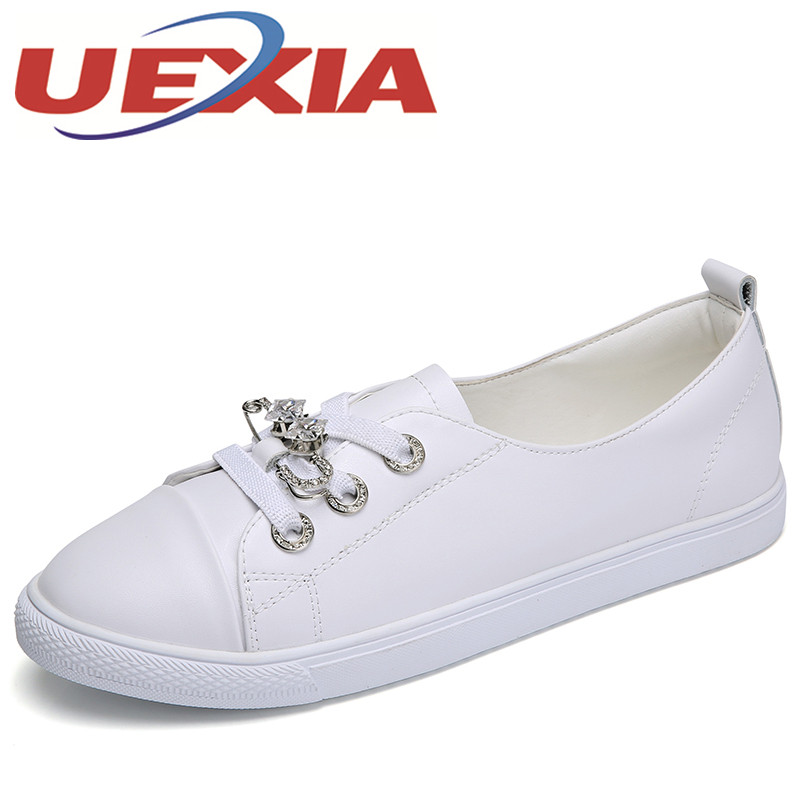 Summer Fashion Casual Shoes Women Breathable Walking Pu Leather Shoes Woman Lace Up Flats Loafers Zapatos Mujer Leisure Shoes women shoes casual shoes lightweight summer beach flats shoes women loafers breathable air mesh zapatos mujer tenis feminino u1