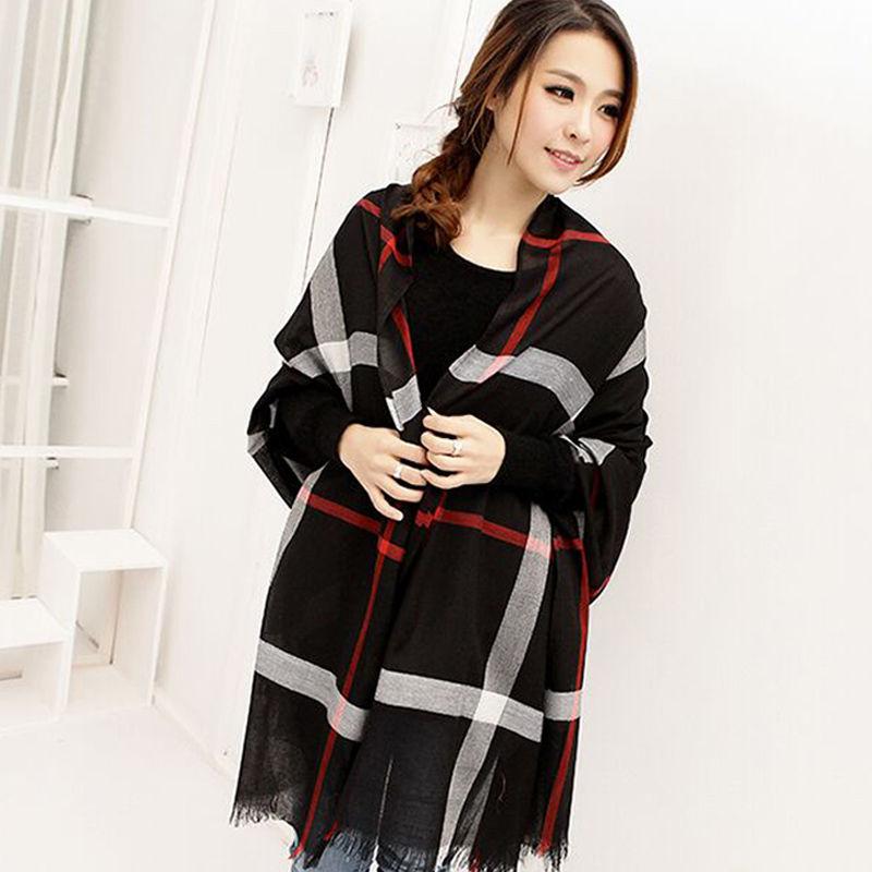 rejilla de la manera del otoo del resorte de invierno bufandas delgadas para las mujeres bufanda