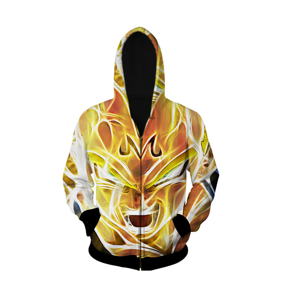 Dragon Ball Hoodies Anime 3D Printed Sweatshirts Men Women Boys Hooded Coat Long Sleeve Autumn Winter Zipper Jacket Streetwear