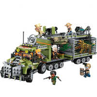 ENLIGHTEN Mountain City Moving Fortress Arrest Tiger Car Shootout Building Blocks Sets Bricks Model Kid Toy Compatible