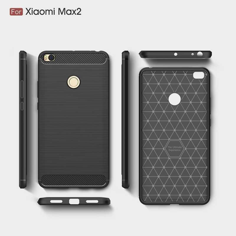 """Для Xiaomi mi Max 2 Чехол mi Max 2 крышки mi Max2 случае Роскошные углеродного волокна Силиконовый Броня чехол для Xiaomi mi Max 2 6,44"""""""