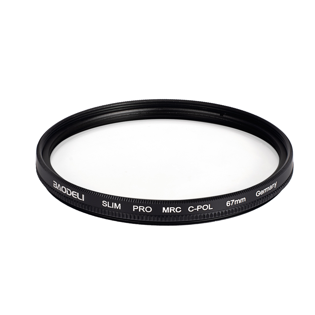 """מוצרי חשמל לבית BAODELI Filtro Polarizador רב""""ט Polarisatie מסנן 37 40.5 43 46 49 52 55 62 58mm 67 מיליון 72 77 82 מ""""מ עבור מצלמה Canon Nikon Sony (4)"""