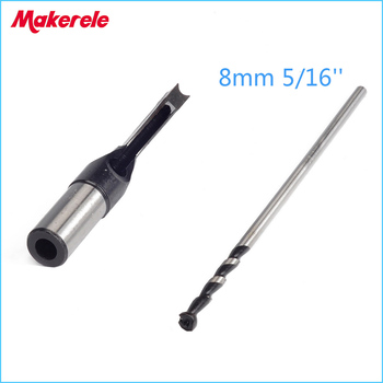 цена на wood tools drill set 8mm 5/16'' Woodworking tools Square Hole Bits Drill Mortising Chisel Set Mortiser Drill Bit Set