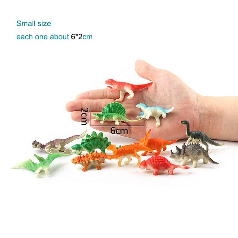 (8/12/20 հատ / լոտ) Dinosaur Toy Model Model Plastic - Խաղային արձանիկներ - Լուսանկար 5