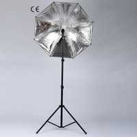 Kits de fotos 2m soporte de luz E27 lámpara individual horlder socket 45W luces de fotografía 33 pulgadas paraguas negro suave|Caja difusora| |  -