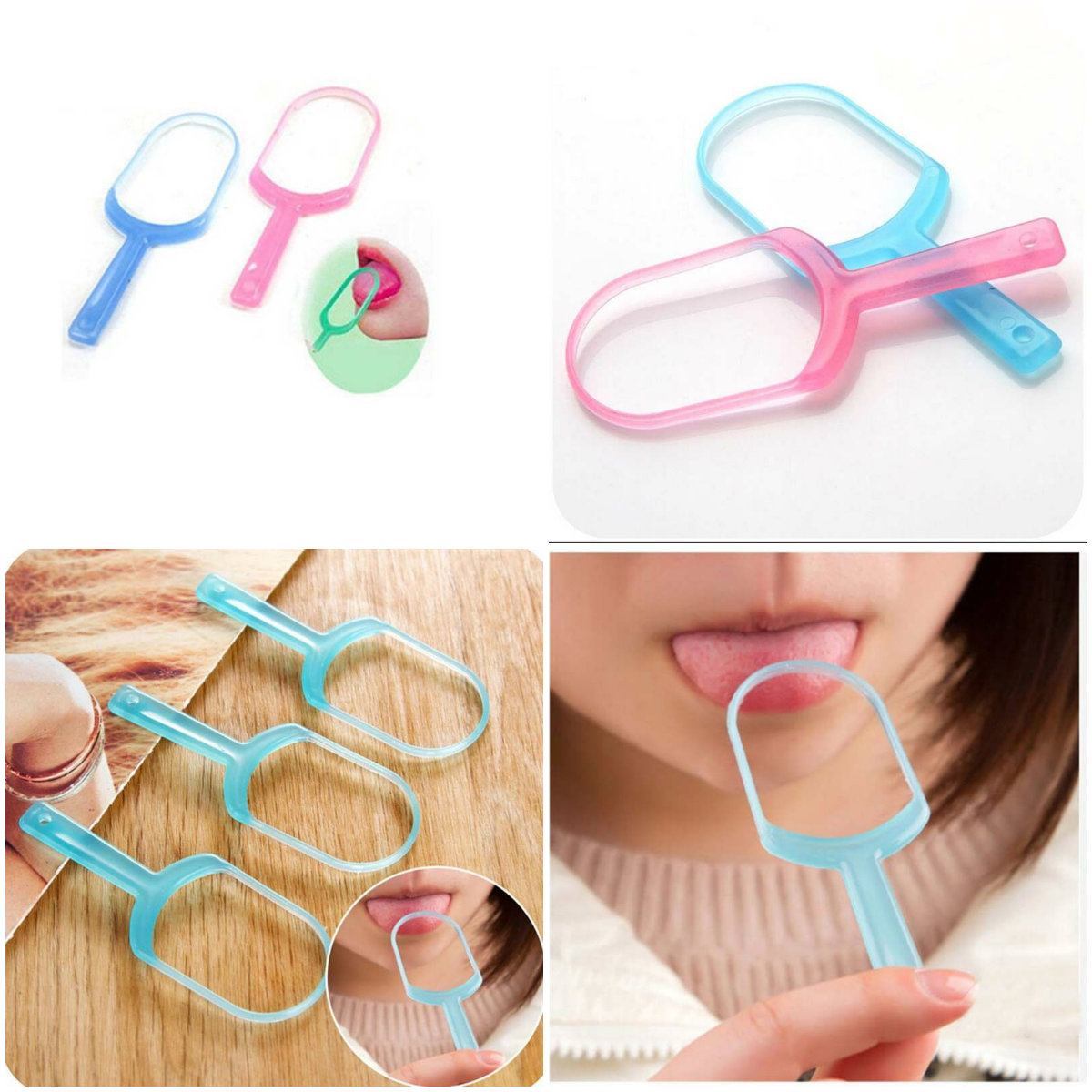 1PCS Tongue Brush Tongue Cleaner Scraper Cleaning Tongue Scraper For Oral Care Oral Hygiene Keep Fresh Breath