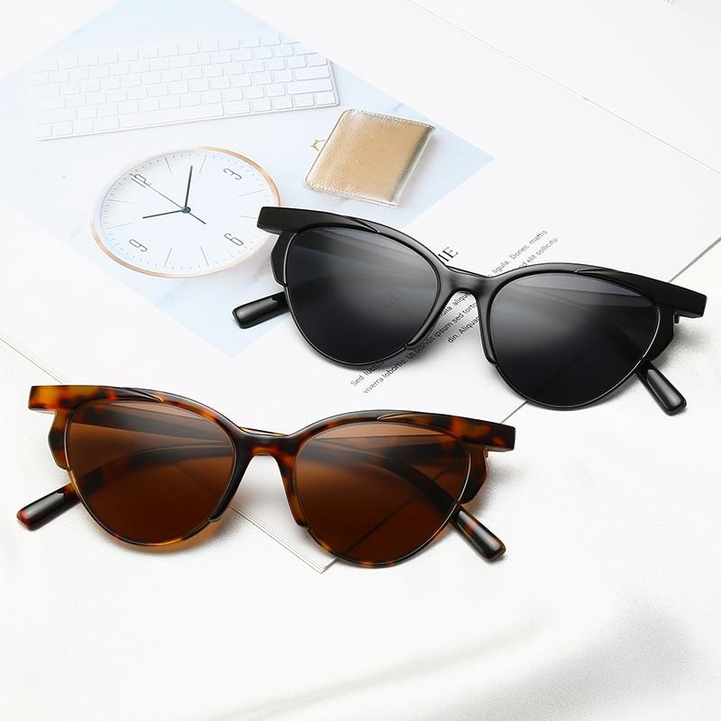 2019 Hot Cat Eye Vintage Women Sunglasses Brand Designer Retro Woman Sunglases Cheap Butterfly Boutique Oculos De Sol Unique