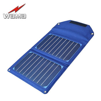 Folding 8000mAh Camouflage Charger 10W 5V 2A Solar Panels Power Bank Pack Li-polymer Batteries dual-USB Outdoors Waterproof