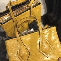 yellow summer crocodile pattern handbags designer luxury bag for women 2019 mini square handbags female shoulder bags sac a main
