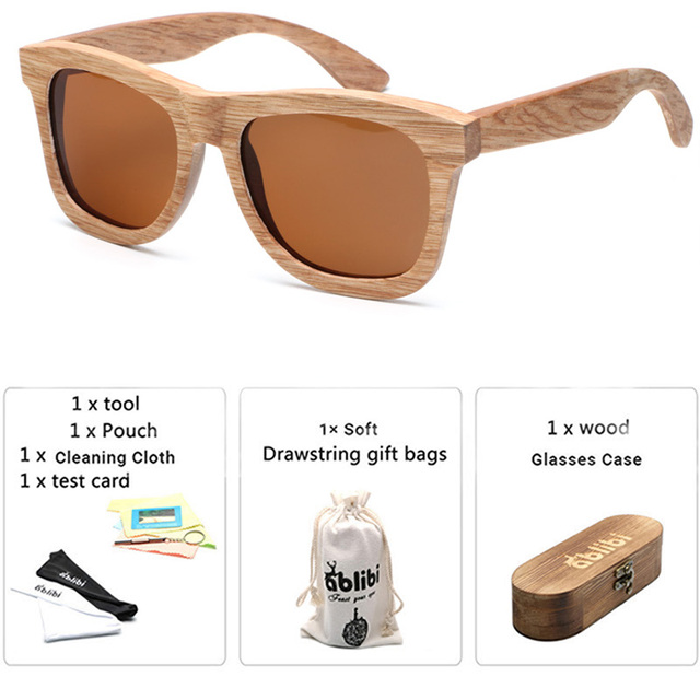 f3eea1ce16 Men s Unique Madrone Wood Polarized Sunglasses for Women Bamboo Wooden  Floating Shade in Custom Wood Case