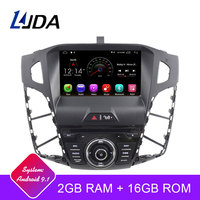 LJDA Android 9.1 Car DVD Player For FORD FOCUS 2012 2013 2014 2015 2016 GPS Navigation 1 Din Car Radio Multimedia WIFI Stereo SD