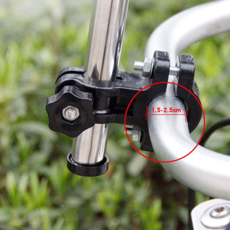 New Any Angle Rotation Wheelchair Bicycle Umbrella Connector Baby Carriage Umbrella Stand Stainless Steel Umbrella Stand