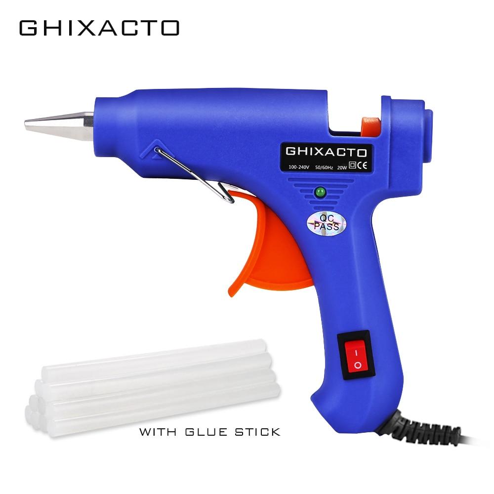 GHIXACTO Вт 20 Вт EU/US штекер термоклеевой пистолет с мм 7 мм клеевой палкой промышленные мини-пистолеты термо-электрический тепловой температурный инструмент для ремонта