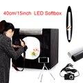 Freies schiff 40*40*40cm tragbare LED foto studio Licht Zelt set + 2 Kulissen + dimmer schalter fotografie zelt kit mini box foto box