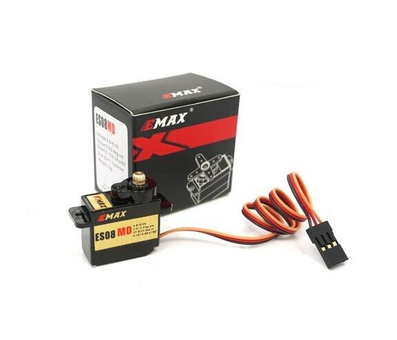 ФОТО NEW ! EMAX 12g High sensitive Micro digital metal gear analog servo ES08MD Mini 12 g / 2.4kg / 0.10 sec high-speed genuine 12860