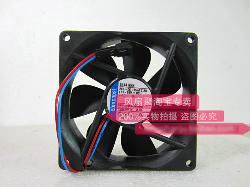 Original ebmpapst 3414NHH 9cm 92*92*25MM 24V 3.2W Inverter cooling fan nmb new and original fba09a12m 9025 9cm 12v 0 2a chassis silent cooling fan 90 90 25mm