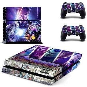 Image 2 - Виниловая наклейка на кожу, Мстители, эндшпиль, Железный человек, Человек паук, PS4, для консоли Playstation 4 и 2 контроллера PS4