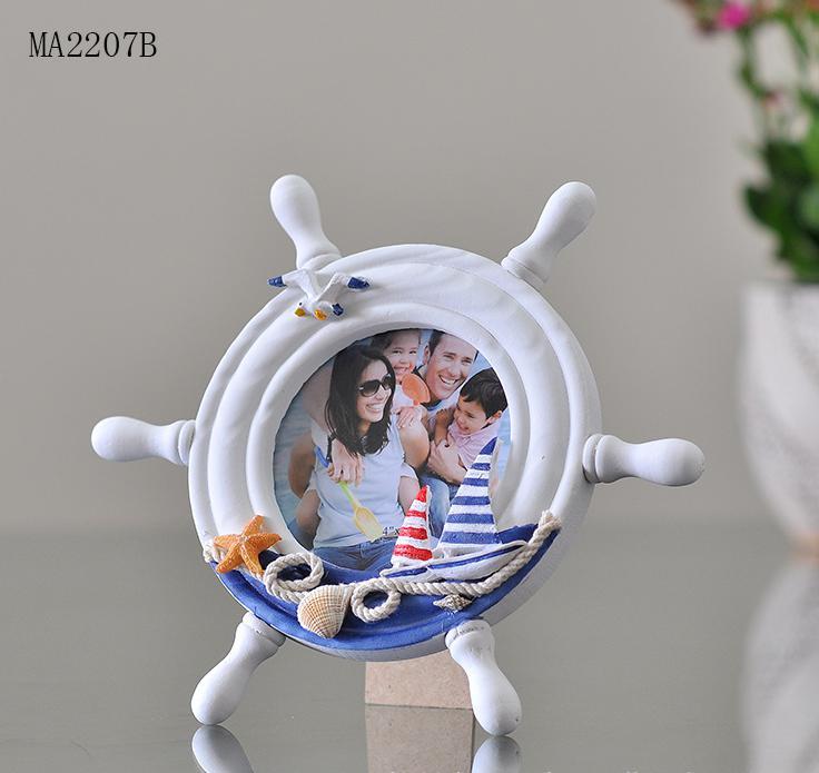 Mediterrane Accessoires mediterrane stijl gesneden houten fotolijsten nautische