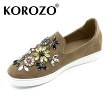 2016 Girls Slipony Women Pointed Toe Flats Shoes Brand Designer Rhinestone Flats Loafers Espadrilles Studded Horsebit loafer