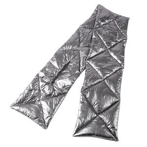 Image 4 - FOXMOTHER 2019 New Design Brand Winter Black Sliver Down Scarf Collar Neck Warmer Stuff Scarves Metallic Echarpe Women