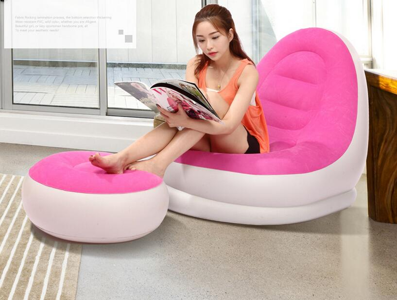 Superb Us 69 3 Fashion New Design Blue And Pink Love Inflatable Sofa Chair Air Inflated Living Room Sofa Recliner With Footrest Foot Ottoman In Living Machost Co Dining Chair Design Ideas Machostcouk