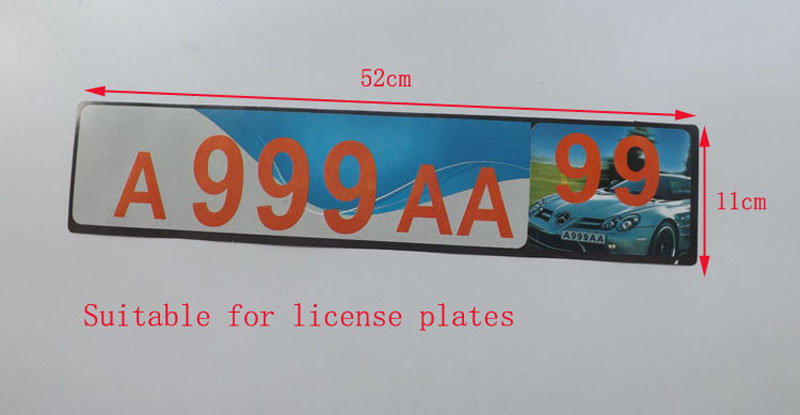 For EU Car License Plate Frame metal Car License Plate Frame Number plate Holder 2pcs