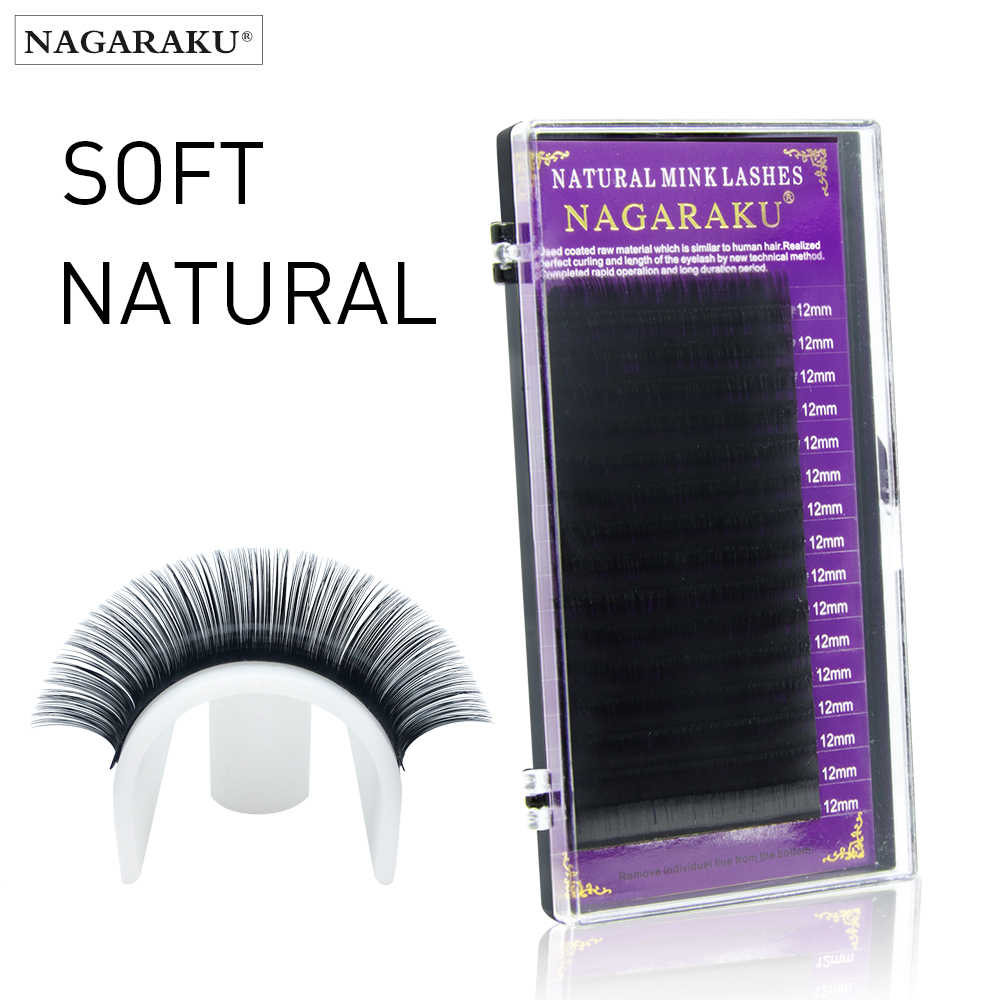 91cd4c27c8d NAGARAKU High quality eyelash extensions faux mink individual eyelashes  natural eyelashes fake false eyelashes All sizes