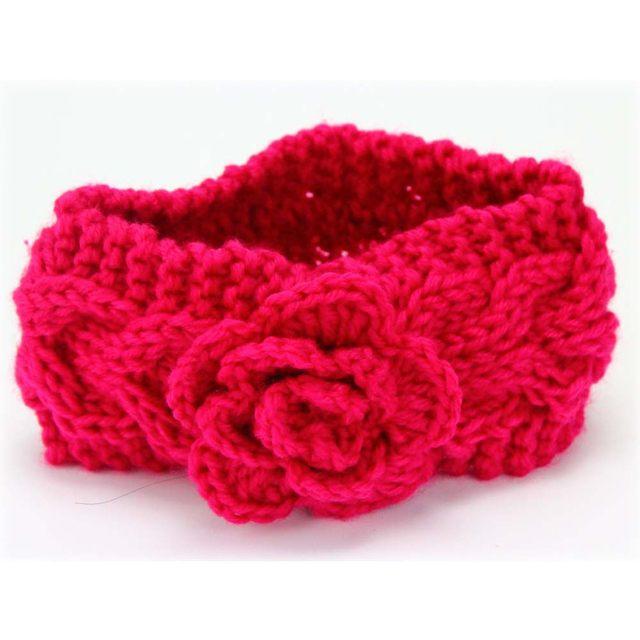 Tienda Online Otoño Invierno tejer a mano de lana diadema para niños ...