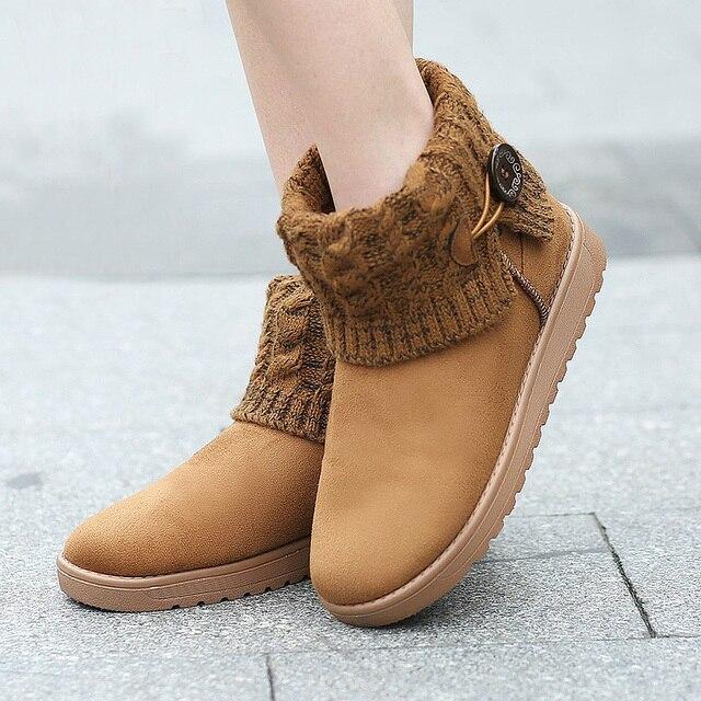 2403a1511a1 2015 Women Snow Boots Classic Woolen Ankle Boots Winter Warm Fur Platform  Shoes Woman Flat Heels Ug Botas Mujer Bottes