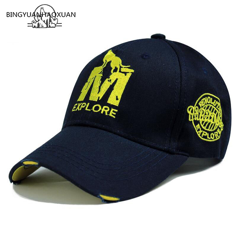 BINGYUANHAOXUAN High Quality Brand Letter Snapback Cap Cotton Baseball For Adult Men Women Hip Hop Dad Hat Bone Garros