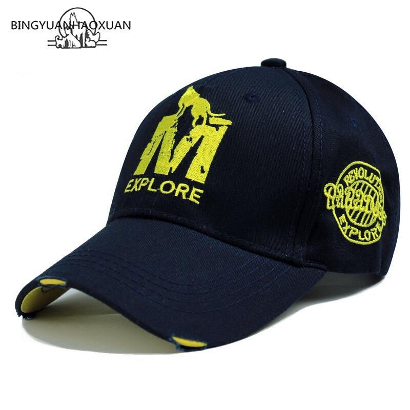 BINGYUANHAOXUAN High Quality Brand Letter Snapback Cap Cotton Baseball Cap For Adult Men Women Hip Hop Dad Hat Bone Garros