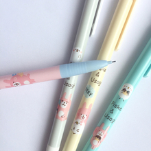 4pcs/lot cartoon Press Automatic Mechanical Pencil With Eraser 0.5mm School Office Supply Student Stationery