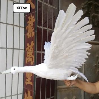 big real life swan bird model foam&feather simulation wild goose bird doll gift about 45x60cm xf0866