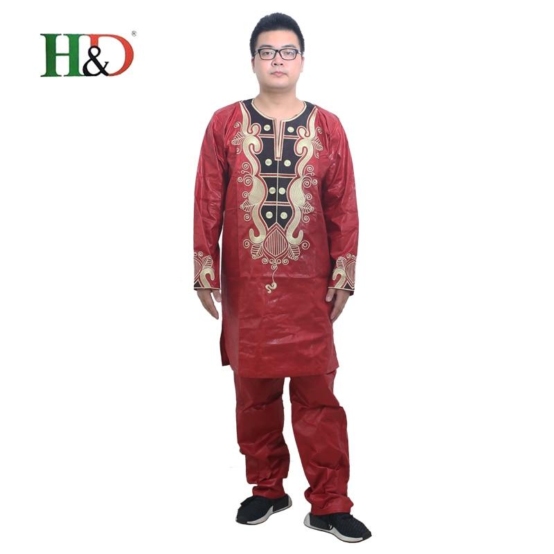 Pakaian Afrika untuk pakaian lelaki 2019 pakaian tradisional lelaki - Pakaian kebangsaan - Foto 4