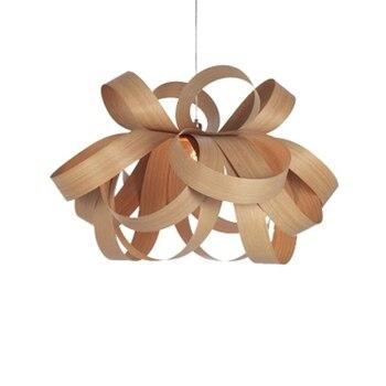 Iskandinav Ahşap Kelebek LED kolye Lamba Oturma Odası Yatak Odası LED kolye Işık Meşe/kiraz Ahşap/Ceviz restoran aydınlatması Fikstür