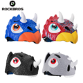 ROCKBROS велосипедные шлемы с мультяшным рисунком для детей  детские защитные шлемы для малышей  велосипедные шлемы с динозавром для мальчиков ...