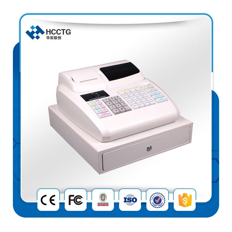 2017 New Supermarket POS Cash Register EC100 Wtih 58mm Thermal Printer Cash Drawer ECR100