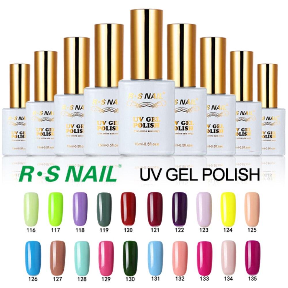 RS 15 мл уф гель лак для ногтей установить сгвпоон де гель лаки набор ногтей гель лаки для ногтей лак клей esmaltes permanentes de уф