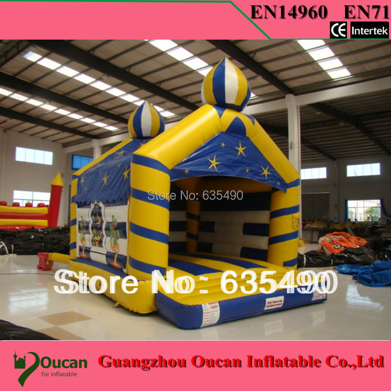 5x4X4M inflatable tarpaulin inflatable bouncers with slide for kids and baby