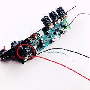 Image 5 - Wireless Speaker Bluetooth Audio Receiver 50W Digital Power amplifier Board subwoofer microphone Reverb 7.4V lithium battery