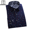 ERIDANUS 2016 Autumn Men Casual Printed Dress Shirt New High Quality Floral Printed Full Sleeve Men's Shirt Big Size 4XL M434
