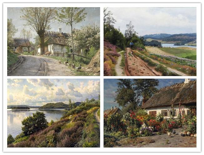 O envio gratuito de arte decoração imagem clássico pintor Russo Shishkin paisagem cópias da lona da paisagem pintura a óleo sobre tela