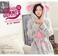 Winter Cashmere Bathrobe Robe Pajamas Nightgown Hooded Robe Leisurewear Flannel Pajamas Thickening Women Pajama Rabbit  Panda